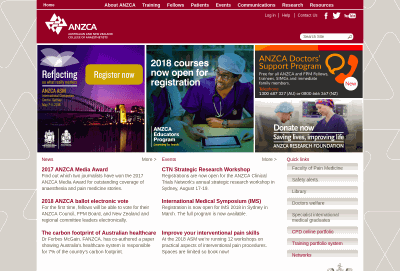 Australian and New Zealand College of Anaesthetists
