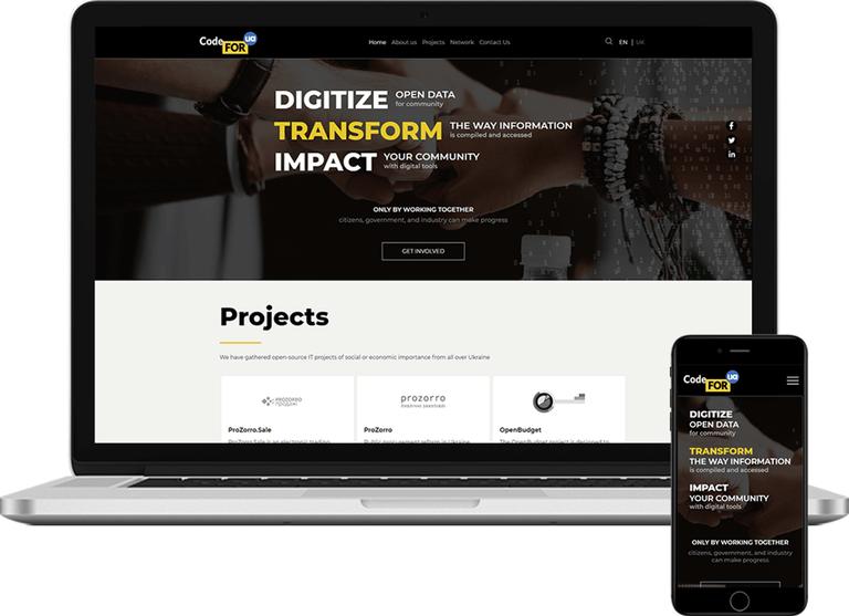 CodeforUA homepage