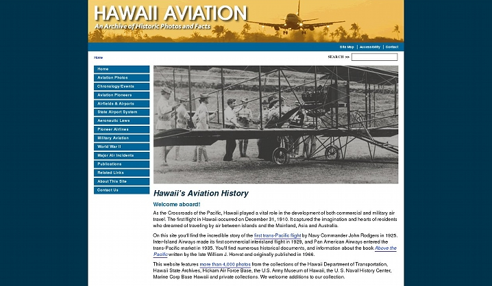 Hawaii Aviation, Archive of Hawaii's Historic Photos and Facts