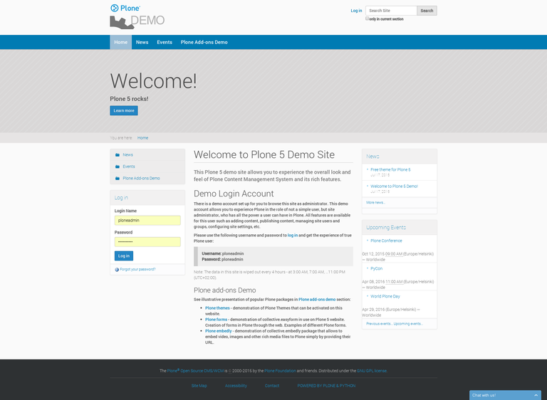 Welcome to Plone 5 Demo Site.png
