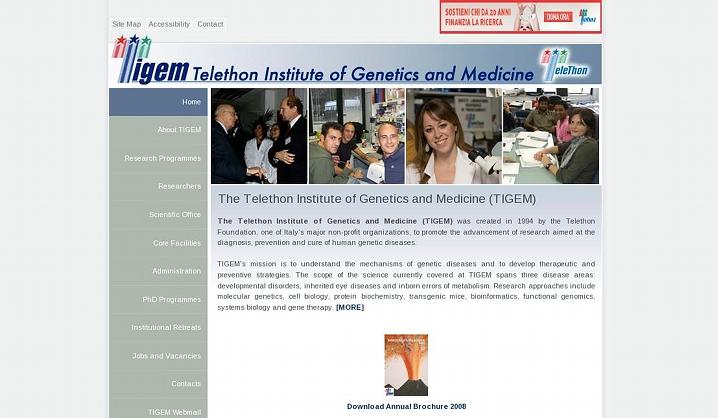 TIGEM: Telethon Institute of Genetics and Medicine