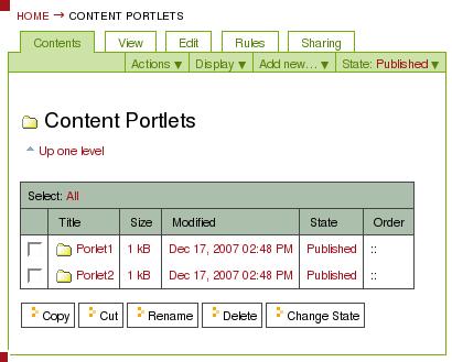 content-portlets