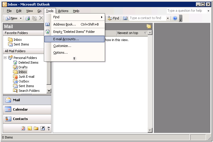 Plone Tutorial - How to Add Email Account in Outlook