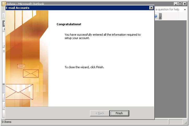 Outlook Congratulations