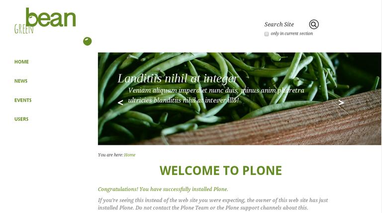 Green Bean Plone theme carousel.png