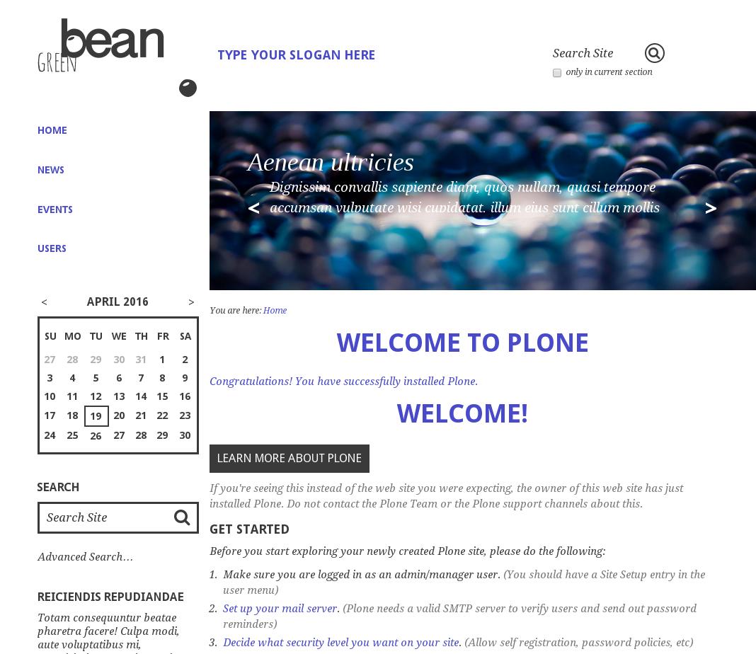 Green Bean Plone theme