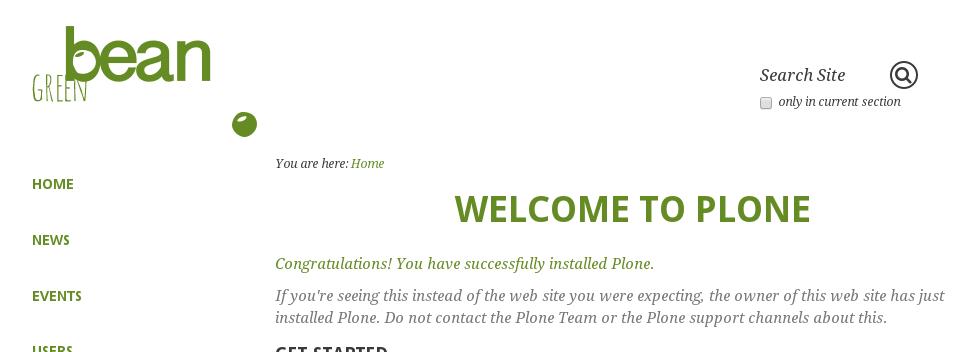 Greenbean Plone theme logo