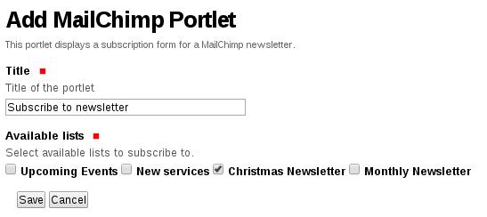 """""""Add MailChimp portlet"""