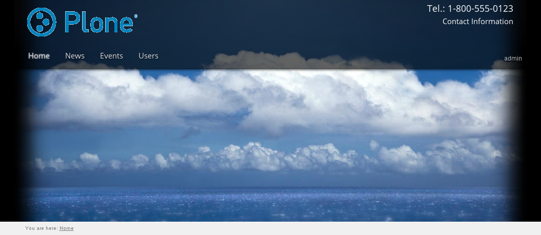 Pacific Plone theme header top image