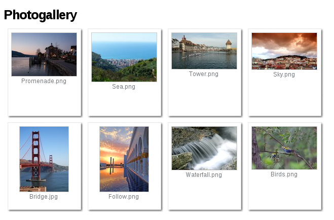 Photogallery in Plone