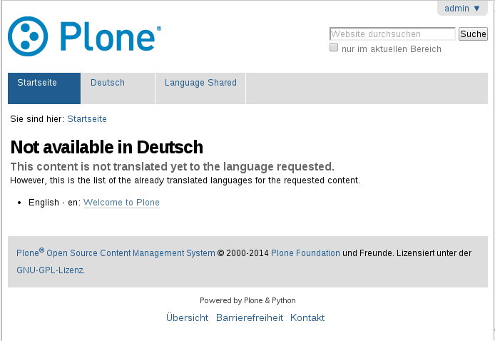 plone.app.multilingual available translations