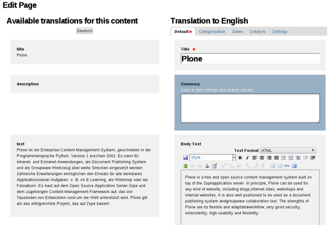 plone.app.multilingual babel view