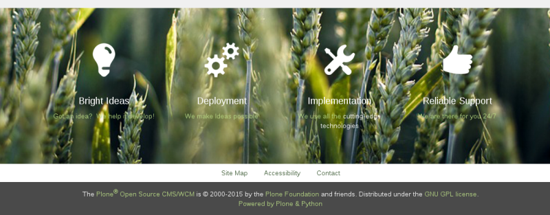 Sliced plone theme featured portlet