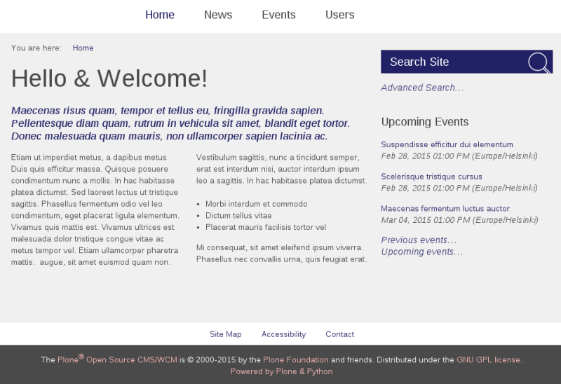 Sliced Plone theme text color purple