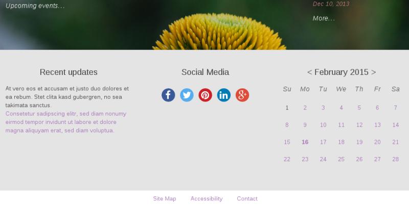 Sliced Plone theme social icons