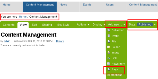 Add page to Plone