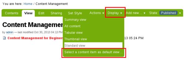 Plone folder default view